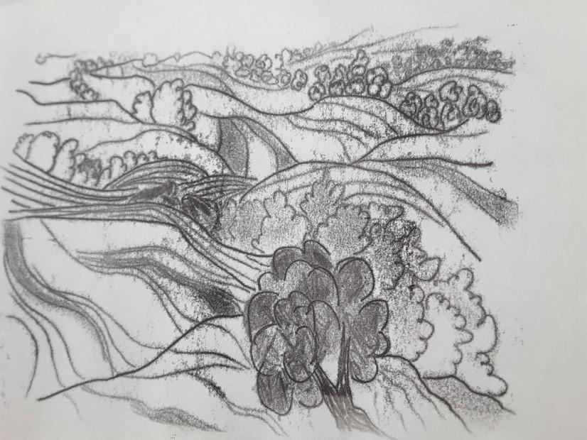 Hügellandschaft