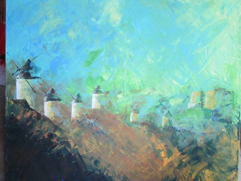 Die Windmühlen von La Mancha