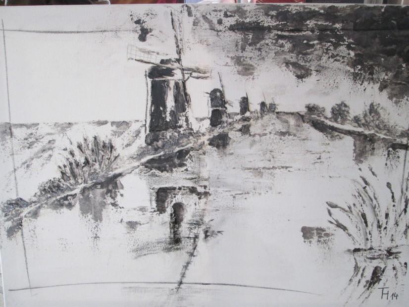 Mühlen am Fluss